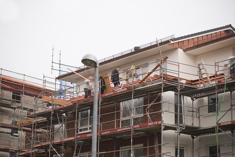 Baustand in Wedel